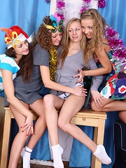 Holiday teen foursome